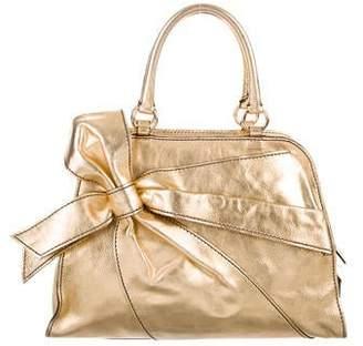 Valentino Metallic Leather Handle Bag