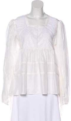 Givenchy Silk Accented Blouse
