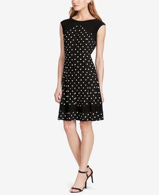 American Living Polka-Dot-Print Jersey Dress $79 thestylecure.com