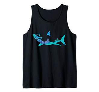 15bec262f Shark Tie Dye Great White Shark Tank Top