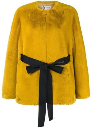 Lanvin faux fur belted jacket