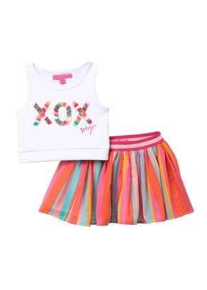 Betsey Johnson XOX Scuba Top & Chiffon Skirt Set (Little Girls)