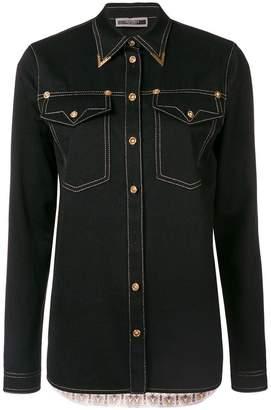 Versace button denim shirt