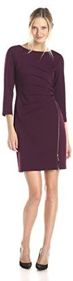 Ivanka Trump Women's Bateau-Neck Dress with Zippered Skirt $138 thestylecure.com