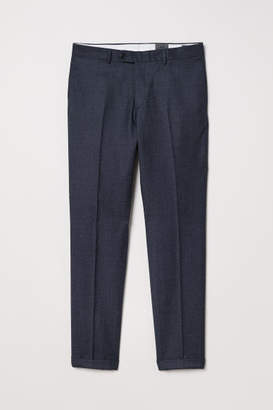 H&M Slim fit Wool Suit Pants - Blue