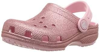 Crocs (クロックス) - [クロックス] サンダル クラシック グリッター クロッグ キッズ ピンク 18.5 cm