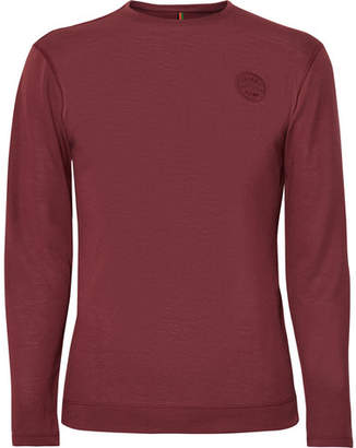 Iffley Road - Hove Striped Drirelease T-Shirt - Burgundy