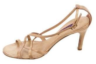 Ralph Lauren Purple Label Metallic Multistrap Sandals