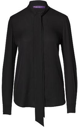 Ralph Lauren Sheryl Silk Necktie Blouse $1,150 thestylecure.com