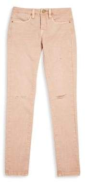 Blank NYC Girl's Don't Blink Distressed Pink Jeans