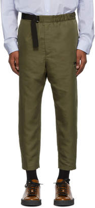 Oamc Green Cropped Regs Trousers