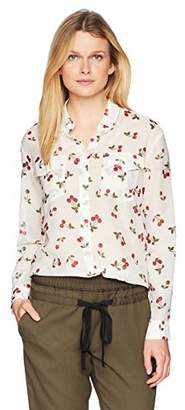 The Kooples Women's Cherry Print Button Down Top