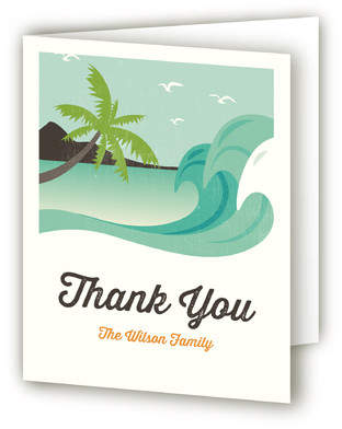 Beachy Moving Announcements Thank You Cards