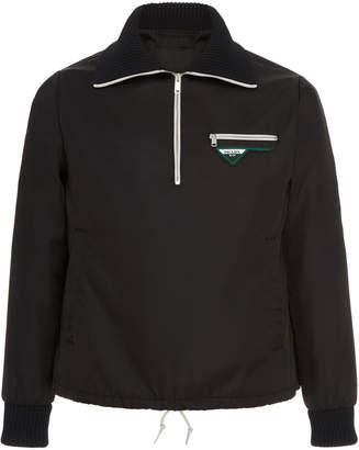 Prada Half-Zip Shell Blouson Jacket