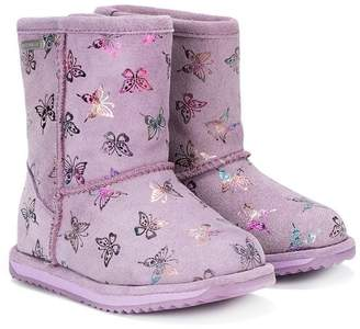 Emu butterfly print boots
