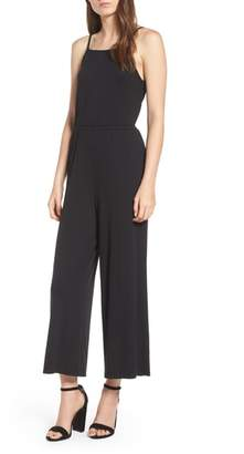 Cupcakes And Cashmere Macall Rib Knit Wide Leg Jumpsuit