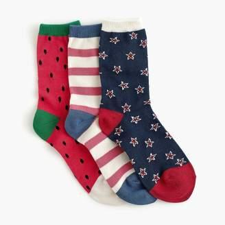 J.Crew Boys' trouser socks three-pack