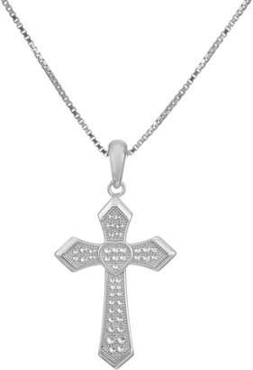 Silver Cross Sterling Pendant w/ Adjustable Chain by Silver Style