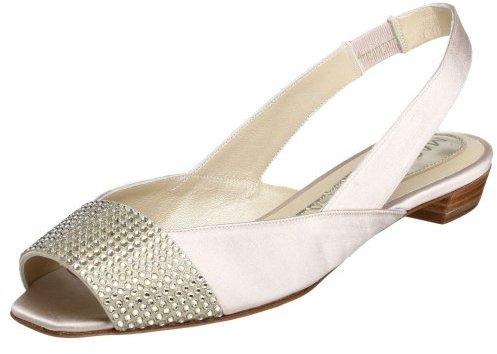 Magrit Women's 15116 Peep-Toe Flat