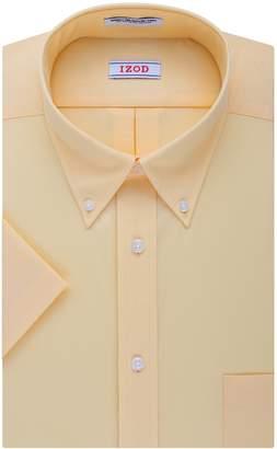 Izod Men's Short Sleeve Regular Fit Solid Buttondown Collar Dress Shirt Shirt,