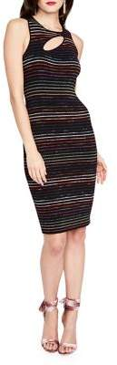 Rachel Roy Cutout Striped Sweater Midi