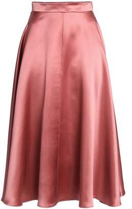 Roksanda Flared Duchesse Silk-Satin Midi Skirt