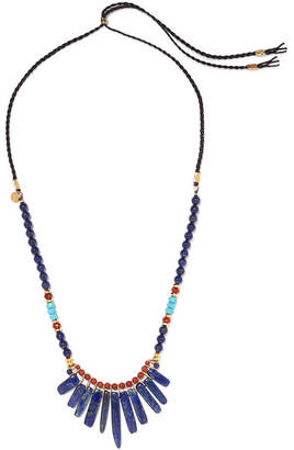 Chan Luu Leather Multi-stone Necklace - Blue