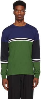 Paul Smith Green Organic Striped Long Sleeve T-Shirt
