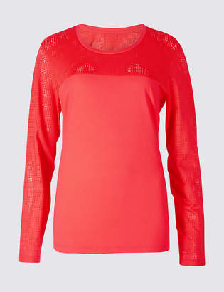 M&S Collection Punch Hole Long Sleeve T-Shirt