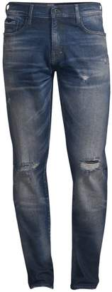 PRPS Distressed Mid-Rise Skinny Jeans