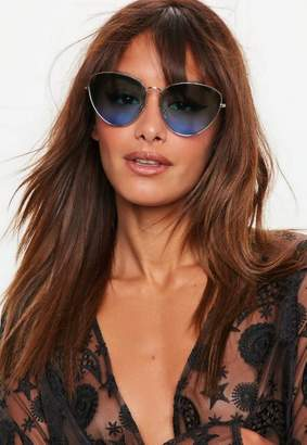 Missguided Blue Ombre Sunglasses