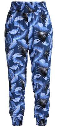 Mikoh Shirred Printed Track Pants