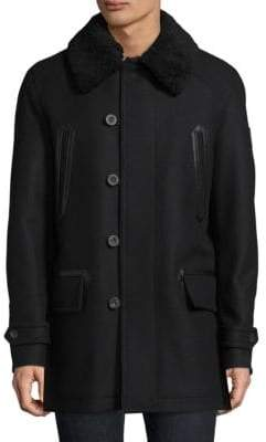 Saddleworth Shearling-Collar Parka