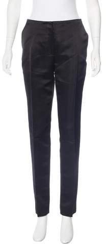 Christian Dior Silk Mid-Rise Pants