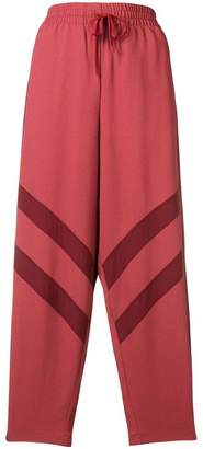 See by Chloe panelled crepe trousers