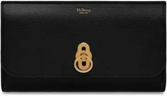 Mulberry Amberley Long Wallet Black Cross Grain Leather