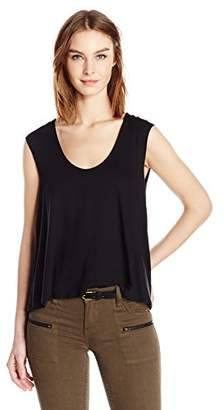 Three Dots Women's Sleeveless Drape Back Top