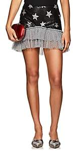 KALMANOVICH Women's Sequined Star-Motif Miniskirt - Black