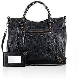 Balenciaga Women's Arena Leather Classic Velo Bag - Black
