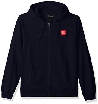Brixton Men's Bering Standard Fit Zip Hooded Fleece Sweatshirt