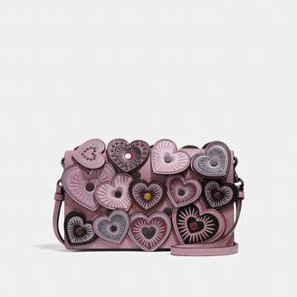 Coach Foldover Crossbody Clutch With Hearts
