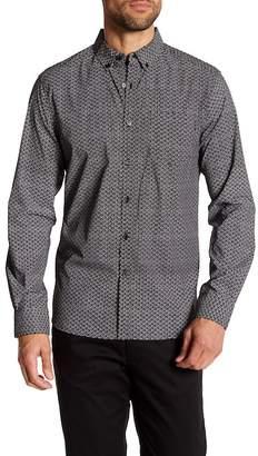 Kenneth Cole New York Micro Dot Long Sleeve Regular Fit Shirt