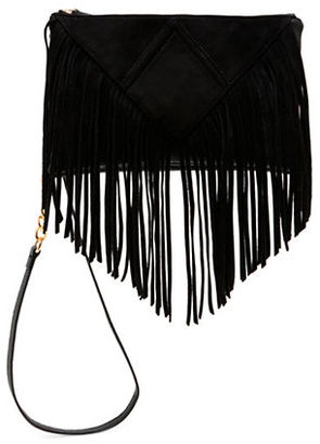 Steve Madden Porter Fringe Faux Leather Crossbody $78 thestylecure.com