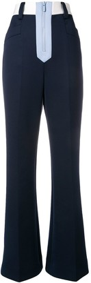 Miu Miu high-waisted colour block trousers
