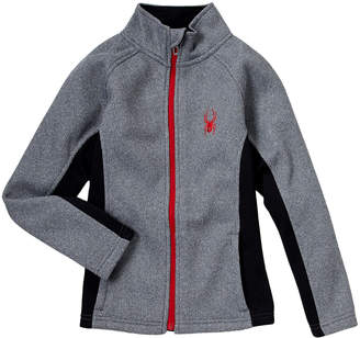 Spyder Boys 8-20) Grey Mock Neck Fleece Jacket