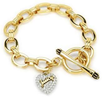 Juicy Couture Pave Heart Juicy Logo Starter Bracelet
