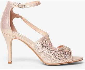 Dorothy Perkins Womens Blush Metallic 'Sunny' Sandals