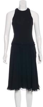 Ralph Lauren Black Label Sleeveless Silk Midi Dress