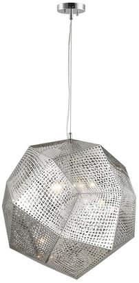 Worldwide Lighting Geometrics 5-Light Chrome Finish Stainless Steel Pendant Light