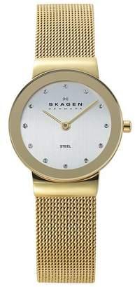 Skagen Ladies' 358SGGD Freja Gold Tone Mesh Strap Watch